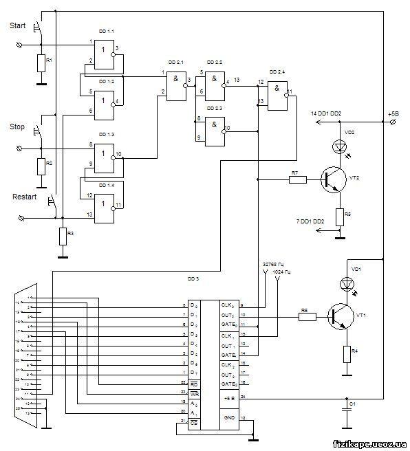 Схема секундоміра